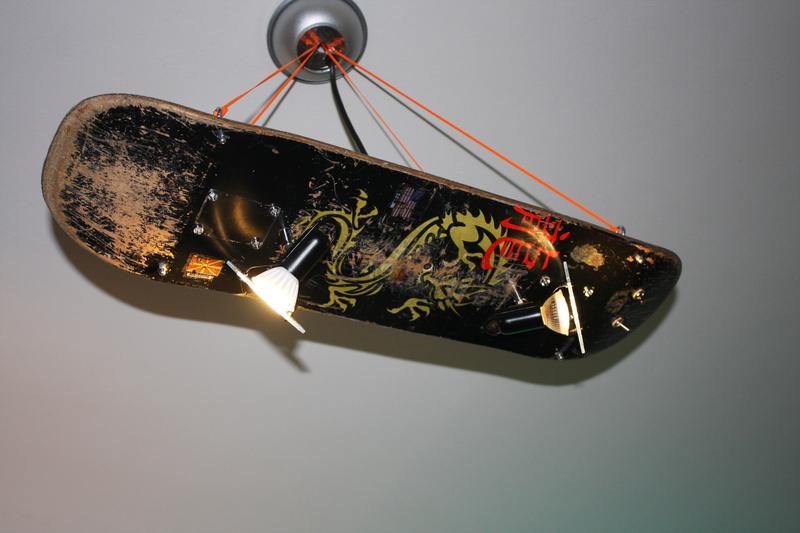 skateboard lampe im eigenbau. Black Bedroom Furniture Sets. Home Design Ideas