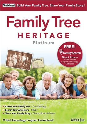 Individual Software Family Tree Heritage Platinum v15.0.6