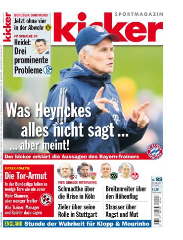 :  Kicker Sportmagazin No 83 vom 12 Oktober 2017