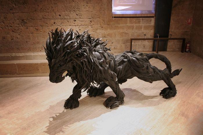 Rzeźby z opon #2 19