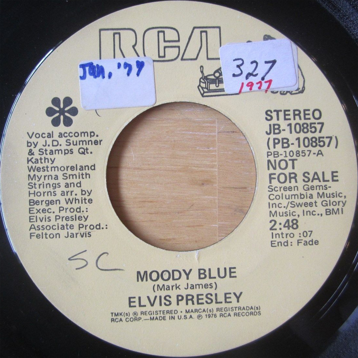 Moody Blue / She Thinks I Still Care Jb-10857ck4kln