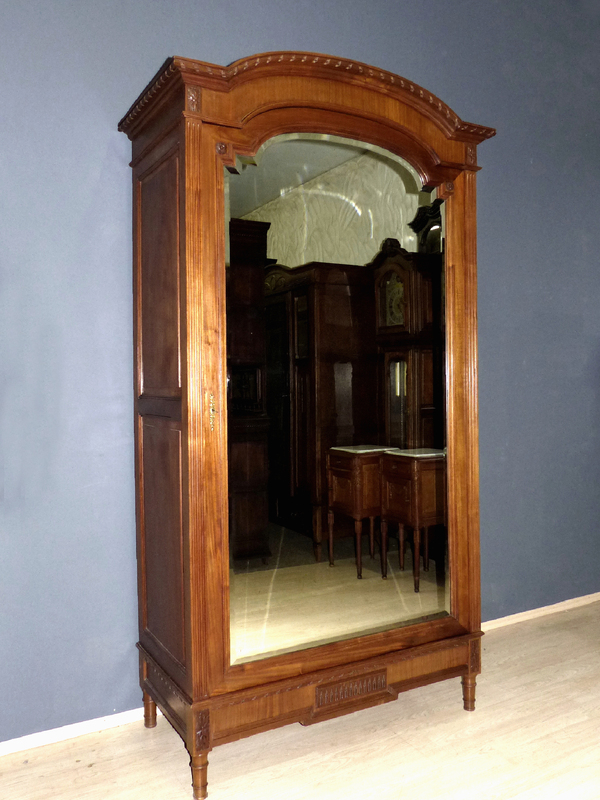 jugendstil kleiderschrank antik empire dielenschrank spiegel garderobe schrank ebay. Black Bedroom Furniture Sets. Home Design Ideas