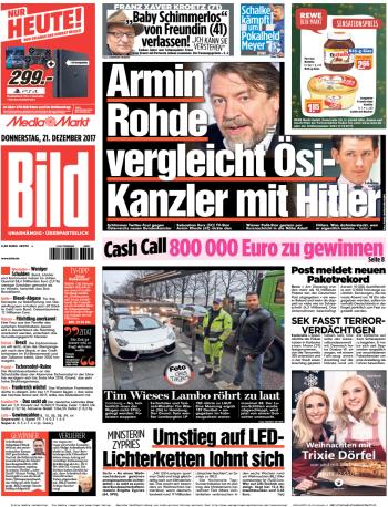 Bild Zeitung 21 Dezember 2017
