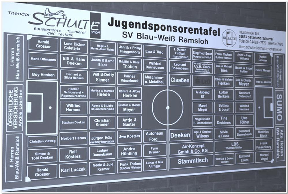 Sponsorentafel