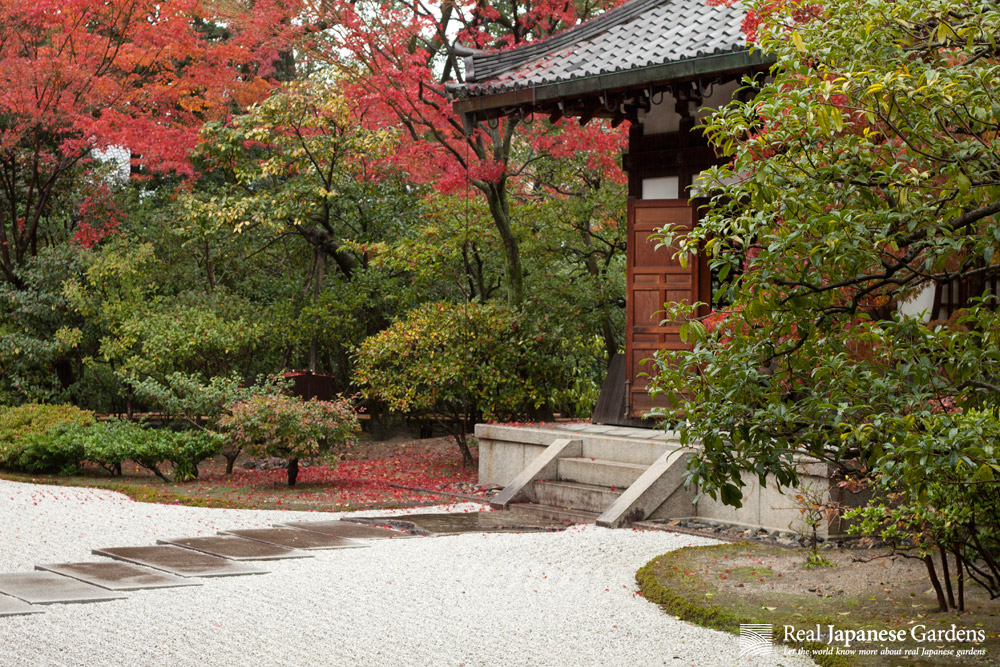 Although In Kyoto, You Will Only Find Blank Soil Between Shrubs. (This Is  No Example For Roji)