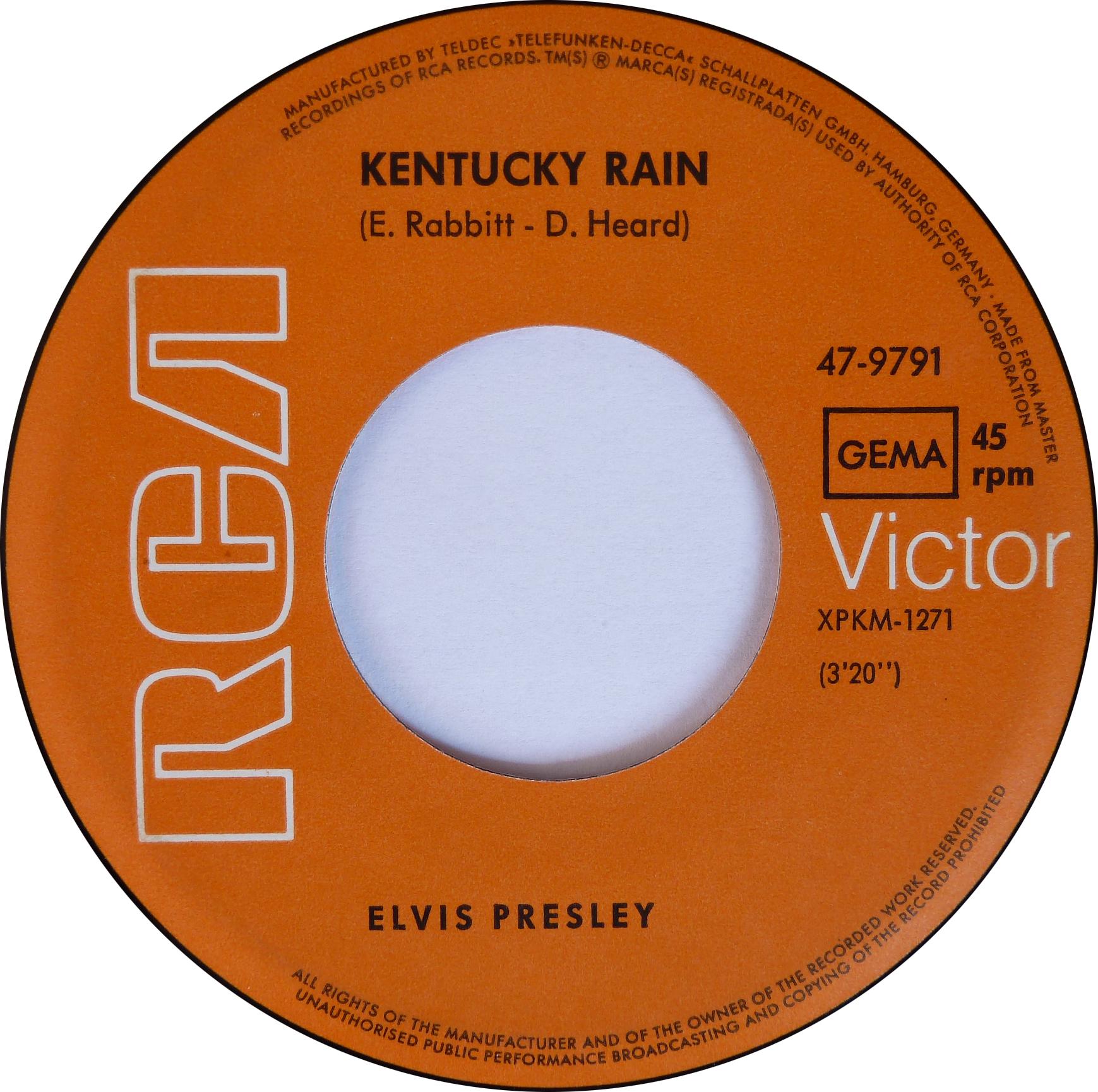 Kentucky Rain / My Little Friend Kentuckyraino2side1mxbqt