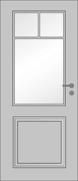 Frisch Innentür Zimmertür Stiltür RSP Weißlack weiss mit Lichtausschnitt  SZ42