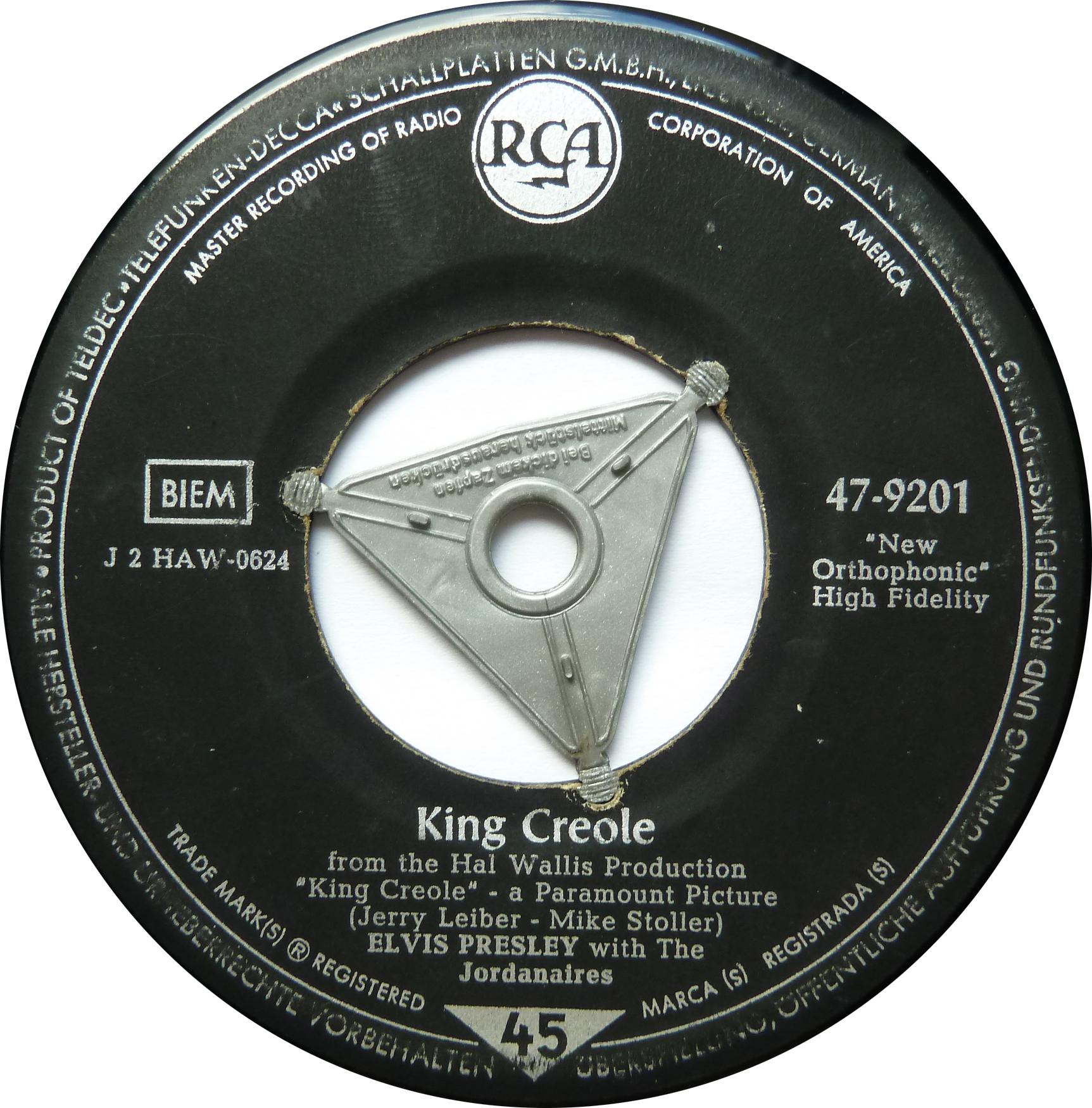 King Creole / Dixieland Rock Kingcreoles5side1znljj