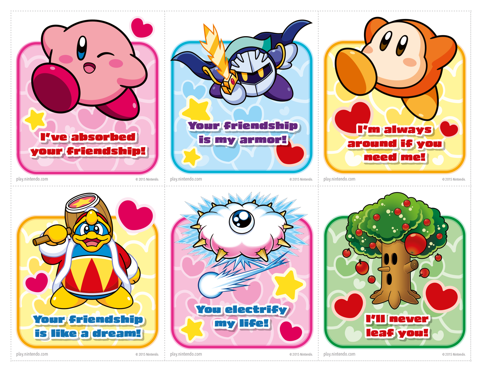 Nintendo publishes a set of printable Valentines Day cards NeoGAF – Valentines Day Cards Print out