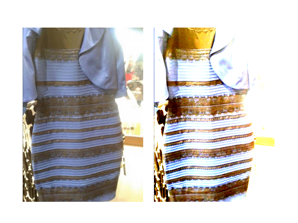 Blaues kleid weiss gold