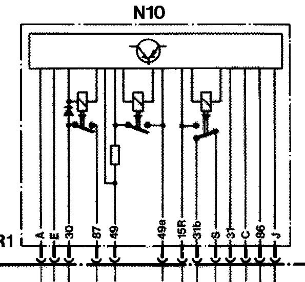 Schaltplan/Pinbelegung Kombirelais - Elektrik - w201.com | 190er ...