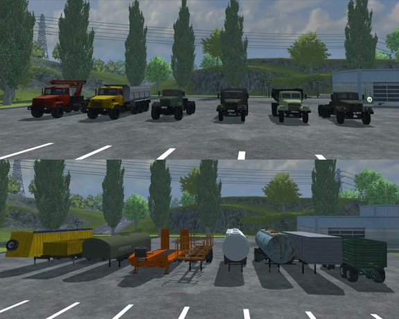 KRAZ AND TRAILERS PACK V2.0
