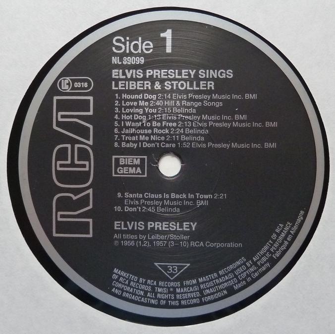 ELVIS SINGS LEIBER & STOLLER Leiberstollerlabel17va91
