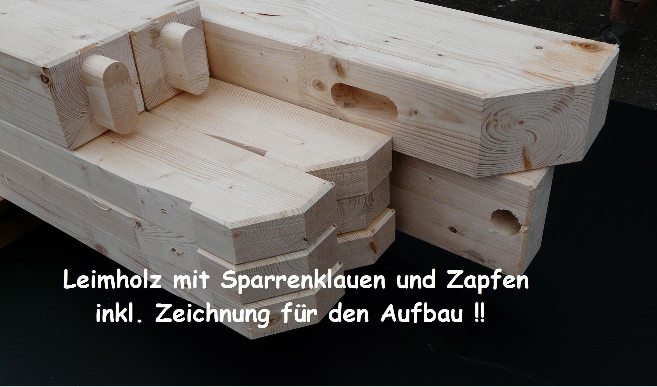 terrassendach komplett !! incl. holz ( abbund-gezapft ) & 16mm, Moderne