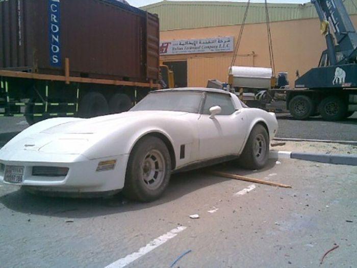 Opuszczone samochody Dubaju 5