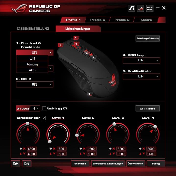 lichteinstellung08yth - Asus ROG GX860 Buzzard - Raubvogelmaus oder LED-Brathähnchen