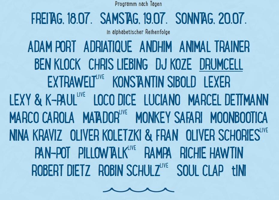 SEA YOU Festival Lineup