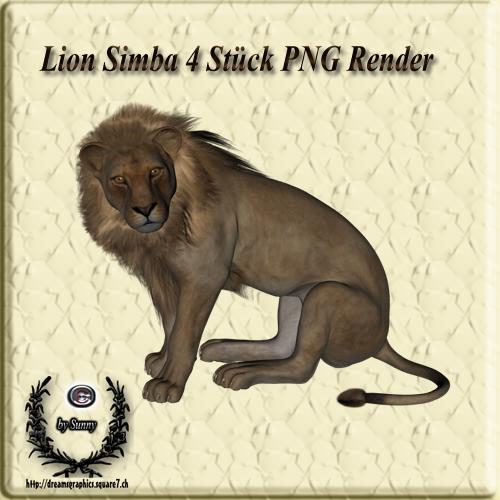 Lion Simba Poser Set