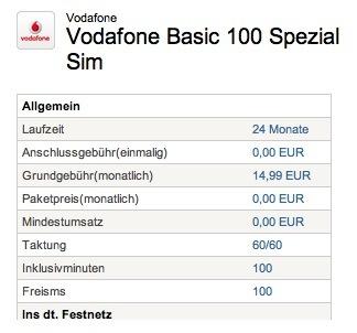 original vodafone basic 100 tarif 14 99 euro monat galaxy s4 mini htc one mini iphone 4. Black Bedroom Furniture Sets. Home Design Ideas