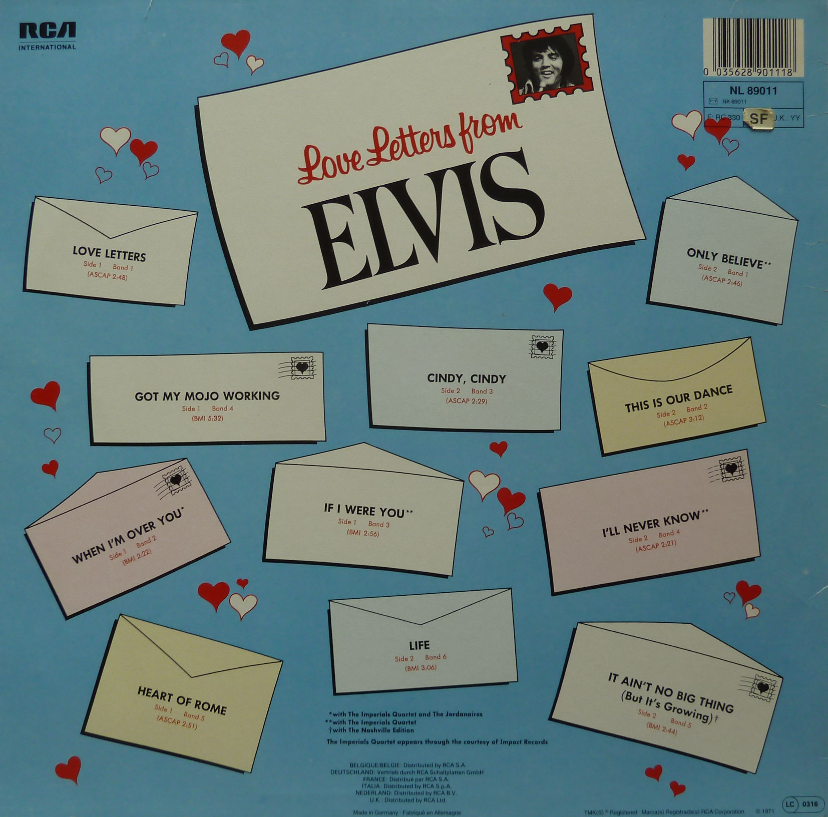LOVE LETTERS FROM ELVIS Loveletters1990rckseiunqqq