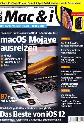 Mac & I Das Apple Magazin von ct Oktober-November No 05 2018
