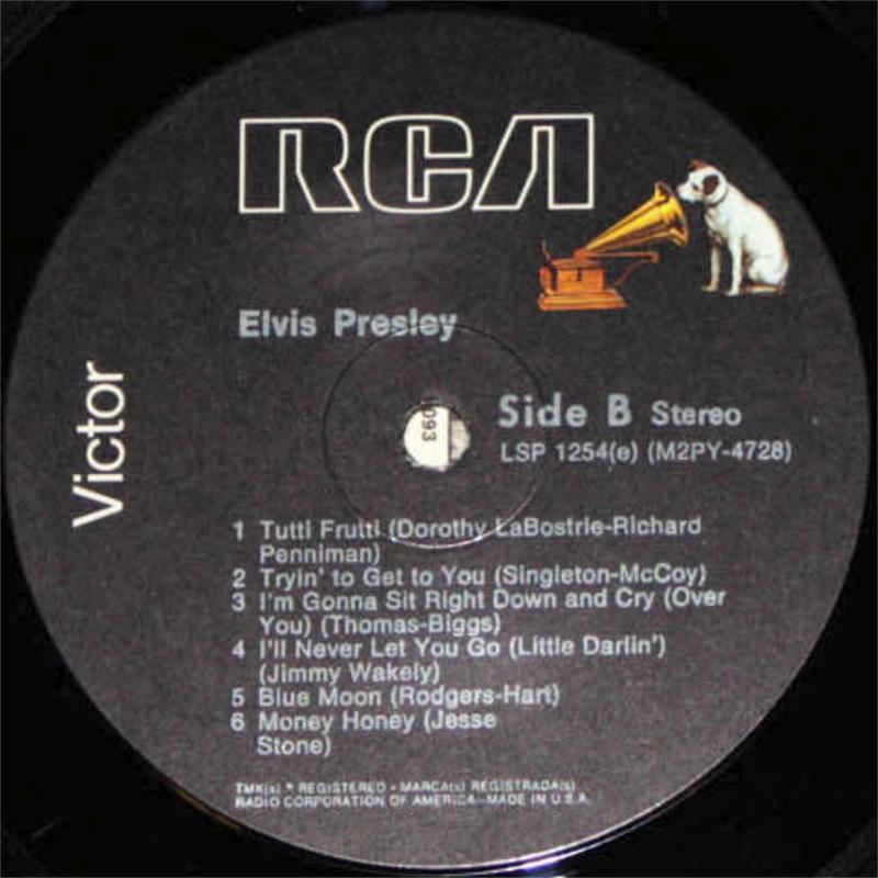 ELVIS PRESLEY Lsp1254fpbk0c