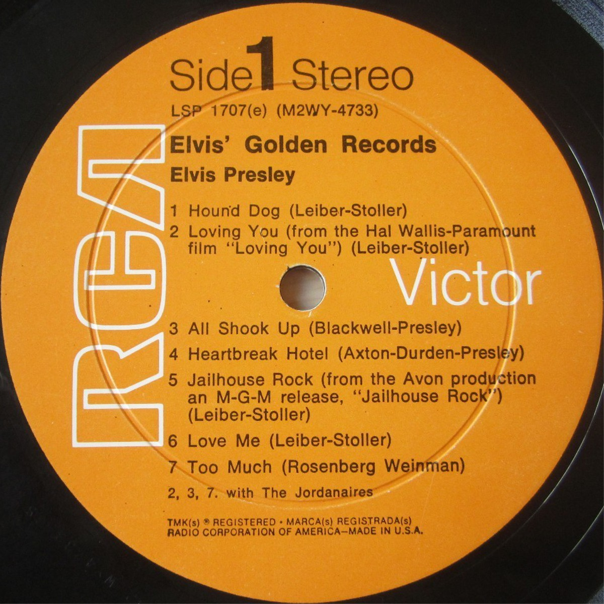 ELVIS' GOLD RECORDS  Lsp1707cx4ydg