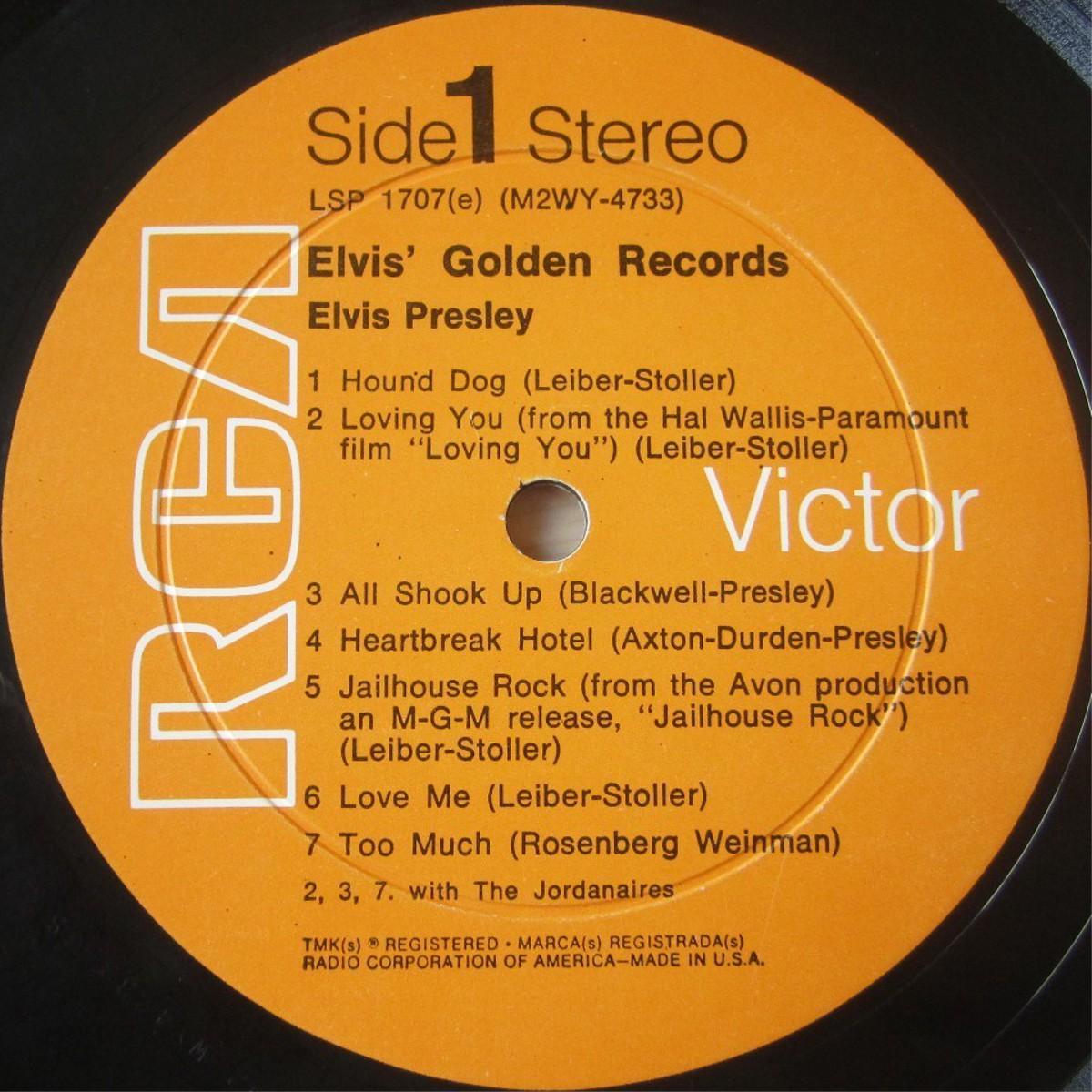ELVIS' GOLD RECORDS  Lsp1707cx4ydg