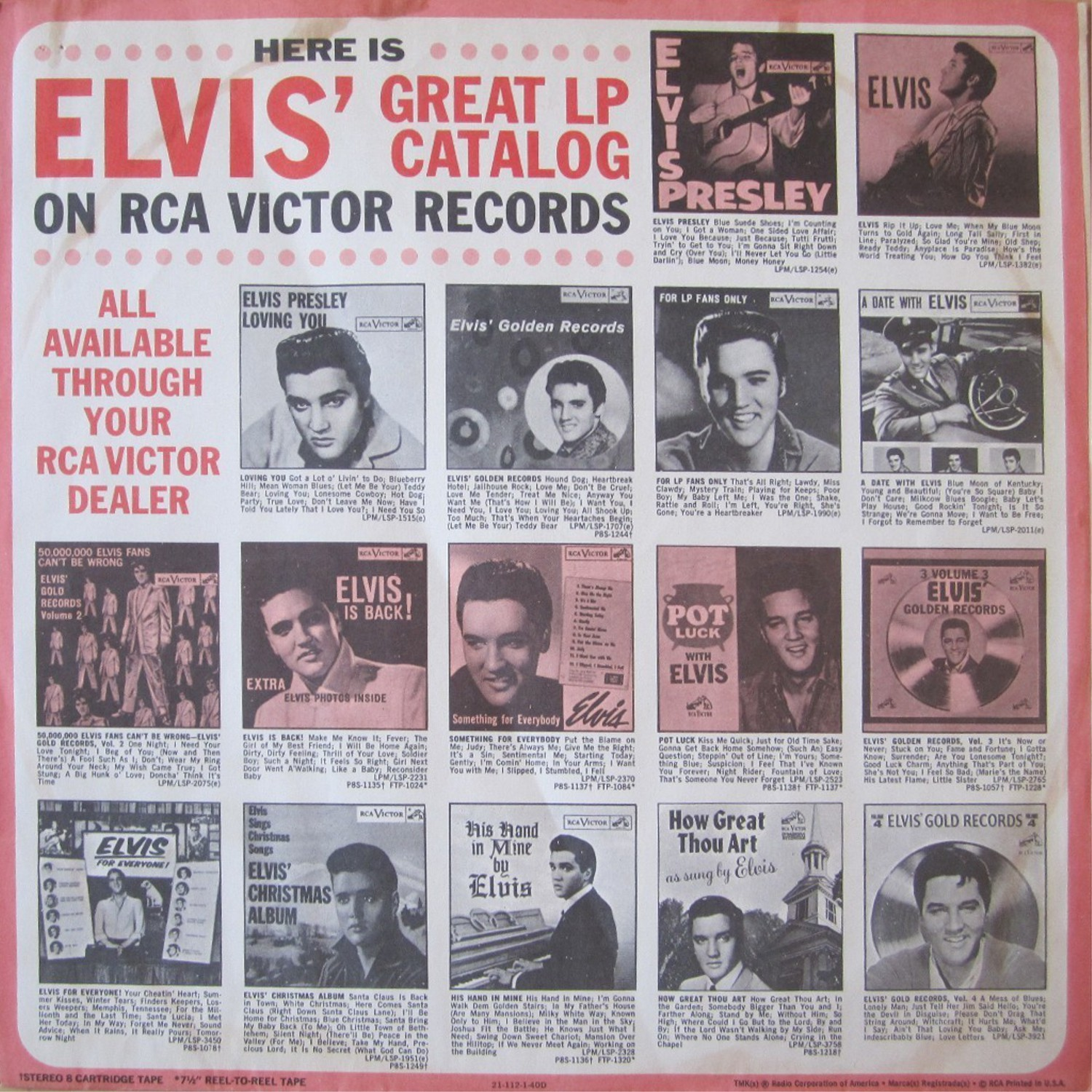 ELVIS' GOLD RECORDS  Lsp1707ey2ljk