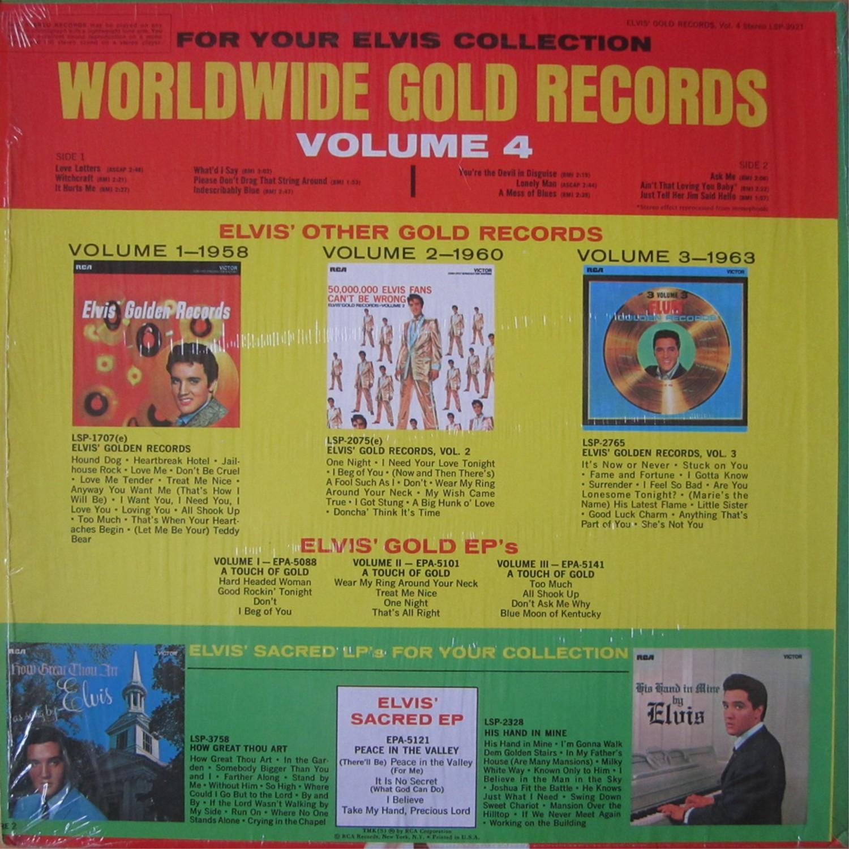 ELVIS' GOLD RECORDS VOL 4 Lsp3921bt3u66
