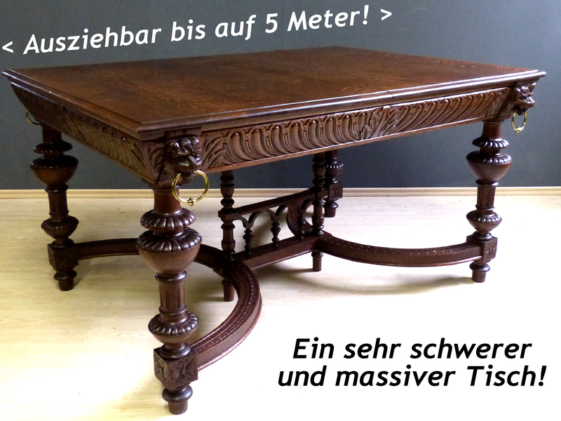 mega renaissance gr nderzeit esstisch kulissentisch antik esszimmer eiche tisch ebay. Black Bedroom Furniture Sets. Home Design Ideas