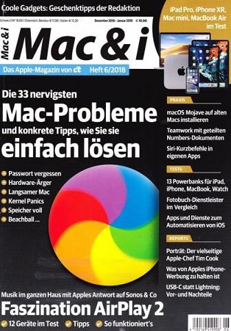 Mac und i - Das Apple Magazin von ct Dezember-Januar No 06 2019