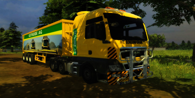MAN TGX Getreide AG Edition + Trailer