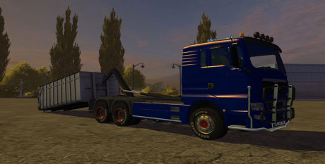 MAN TGX HKL + Container v 1.0 MR