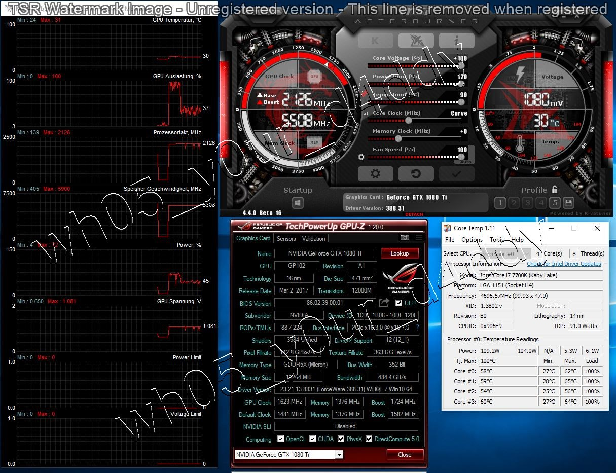 GPU 2126 MHz and Prime95 FULL LOAD after 10 minutes