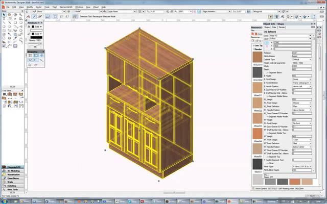 Grafik vectorworks interiorcad 2012 for Zeichenprogramm schreiner