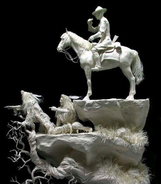 Papierowe rzeźby 10