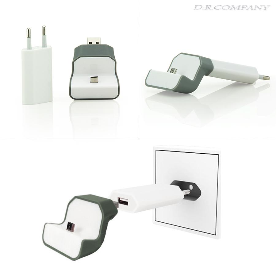 micro usb kabel halterung wand ladeger t netzteil ladestation alcatel one touch ebay. Black Bedroom Furniture Sets. Home Design Ideas
