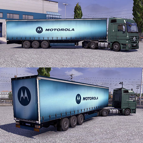 Motorola trailer &#8211; Euro Truck Simulator 2 Mod