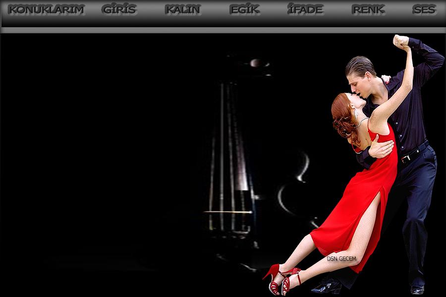 müzikli dans çift tema