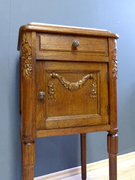 Jugendstil beistelltisch antik eiche nachtschrank konsole for Beistelltisch telefon
