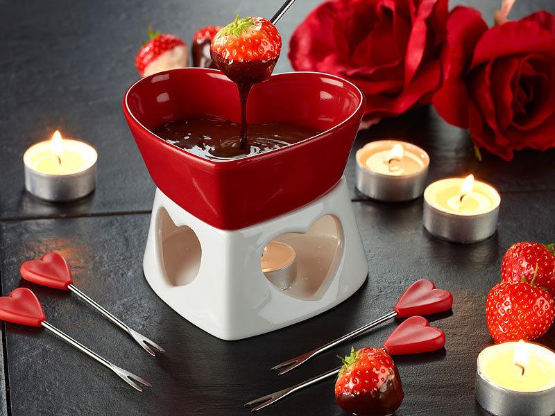 Μοναδικό φοντί σοκολάτας σε μορφή καρδιάς με 11,99 €