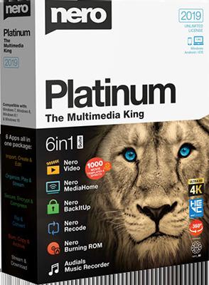 Nero Platinum 2019 Suite 20.0.05900 Multilingual inkl.German