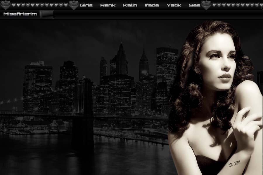 newyorkta bir güzel bayan tema