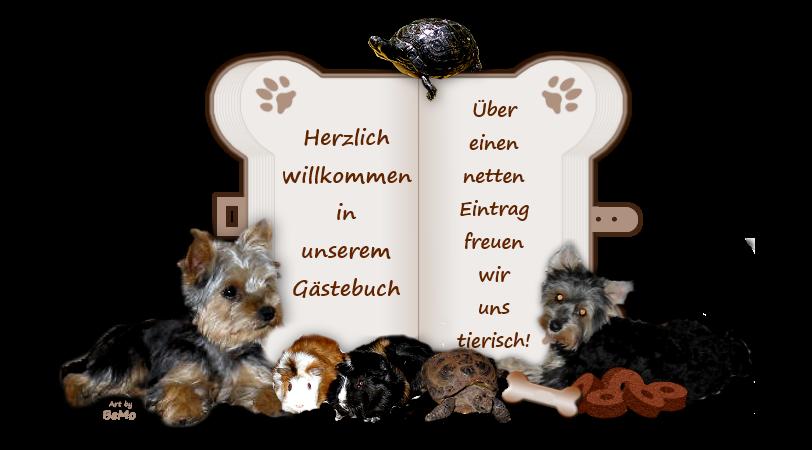Gästebuch Banner - verlinkt mit http://www.benjie-und-molly.de/