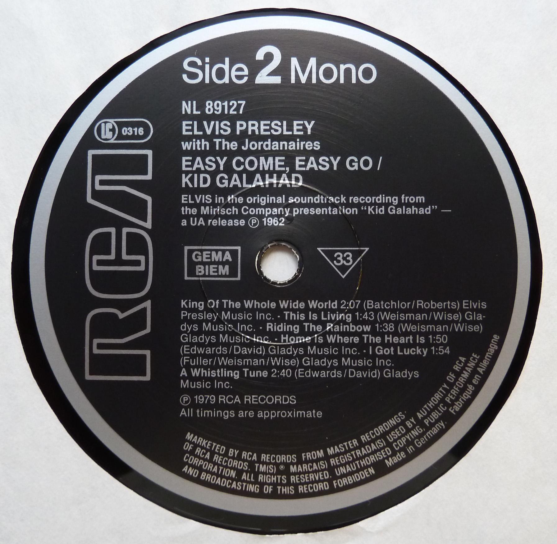 ORIGINAL SOUNDTRACKS: EASY COME EASY GO / KID GALAHAD Originalsoundtrackseaatiy6