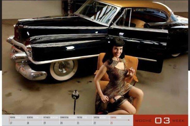 Dziewczyny i legendarne auta USA w jednym kalendarzu :) 2