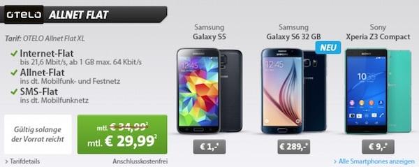 Otelo Allnet-Flat XL Samsung Galaxy S6