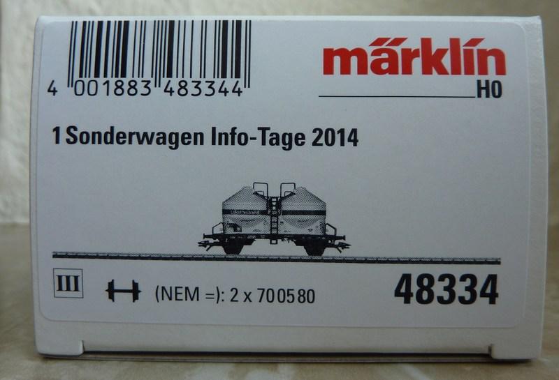 "Märklin 48334 Sonderwagen Info-Tage 2014 ,,Lokstreusand"" P1120509w6sp6"
