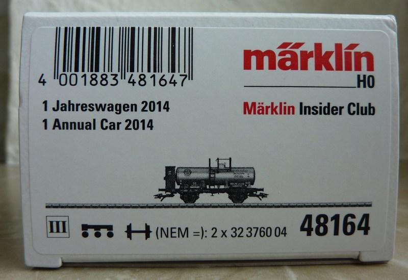 Märklin 48164 Insider Jahreswagen 2014 P1130231yzjbl